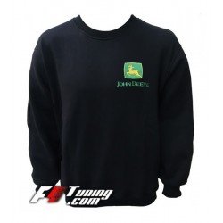 Pull JOHN DEERE sweat en cotton molletonné
