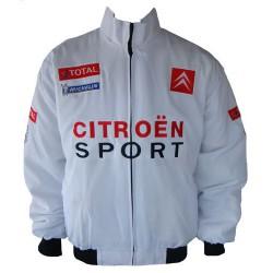 Blouson Citroen Racing Team sport mécanique couleur blanc