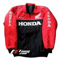Blouson Honda Racing Team moto couleur rouge