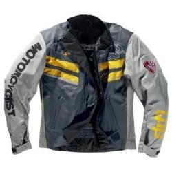 Difi veste courte Bullet gris/jaune