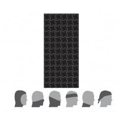Difi Tour de cou multi tube Noir/Gris