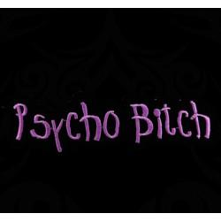 Polo Psycho Bitch de couleur noir
