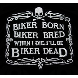 Polo Biker Born, Biker Bred, Biker Dead de couleur noir