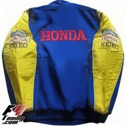 Blouson Bar Honda Team formule-1 couleur bleu et jaune