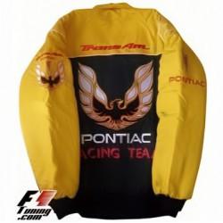 Blouson Pontiac Racing Team Sport Automobile couleur noir et jaune
