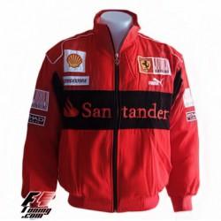 Blouson Ferrari Team de couleur rouge
