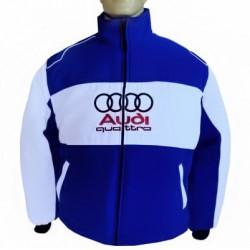 Blouson Audi Quattro Team Sport Automobile couleur bleu