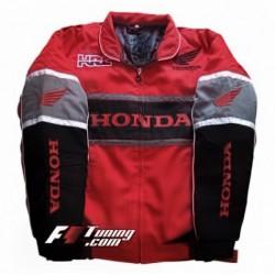 Blouson Honda Racing Team moto couleur rouge et noir