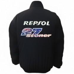 Blouson Casey Stoner Repsol Honda HRC Team Moto GP couleur noir