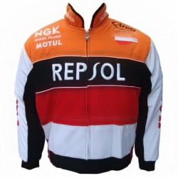Blouson Honda Team Repsol moto couleur blanc & orange