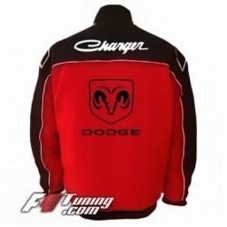 Blouson DODGE Charger Team de couleur rouge et noir