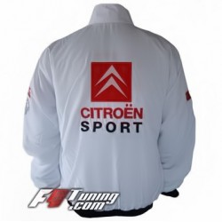 Blouson CITROEN Racing Team de couleur blanc
