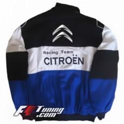Blouson CITROEN Racing Team de couleur noir et blanc