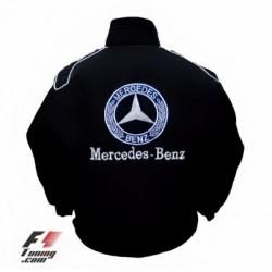 Blouson Mercedes Team sport automobile de couleur noir