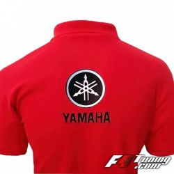Polo YAMAHA de couleur rouge