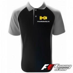 Polo HUMMER H1 de couleur noir et gris