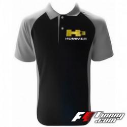 Polo HUMMER H3 de couleur noir et gris