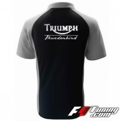 Polo TRIUMPH Thunderbird de couleur noir