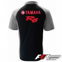 Polo YAMAHA R6 de couleur noir et gris