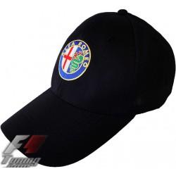 Casquette ALFA-ROMEO de couleur noir