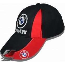 Casquette BMW de couleur noir et rouge