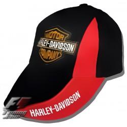 Casquette HARLEY DAVIDSON de couleur noir et rouge