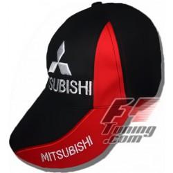 Casquette MITSUBISHI de couleur noir et rouge