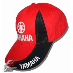 Casquette YAMAHA de couleur noir et rouge