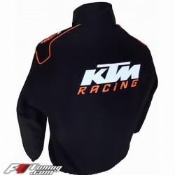 Blouson KTM Team sport mécanique couleur orange & noir