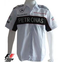 Chemise Mercedes Team blanche