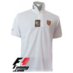 Polo Porsche Team Racewear blanc