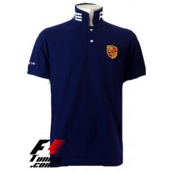 Polo Porsche Team Racewear bleu