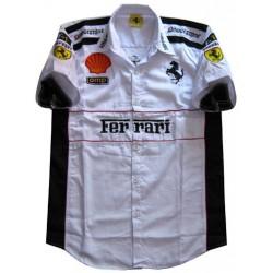 Chemise Ferrari Team formule-1 blanc
