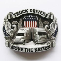 Boucle de ceinture Truck Drivers Move the Nation sur fond en couleur