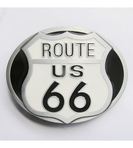 Boucle de ceinture Route 66 USA fond en couleur