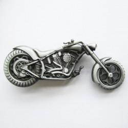 Boucle de ceinture Big Bike couleur argent brossé