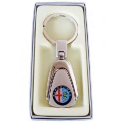 Porte-clés Alfa Romeo en Acier 316L Chromé