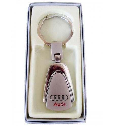 Porte-clés Audi en Acier 316L Chromé