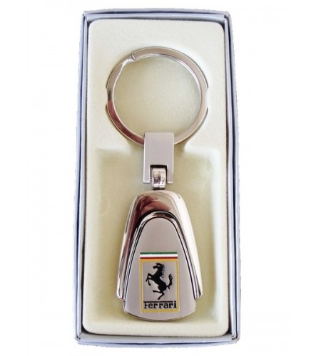 Porte-clés Ferrari en Acier 316L Chromé