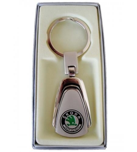 Porte-clés Skoda en Acier 316L Chromé