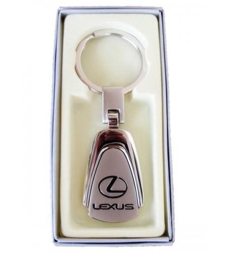 Porte-clés Lexus en Acier 316L Chromé