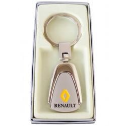 Porte-clés Renault en Acier 316L Chromé