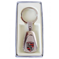 Porte-clés Porsche en Acier 316L Chromé