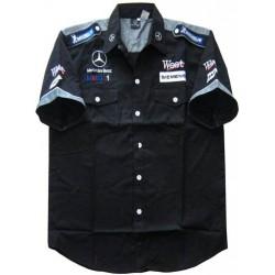 Chemise McLaren Mercedes Team formule-1 gris et noir