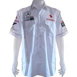 Chemise McLaren Mercedes Team formule-1 blanc