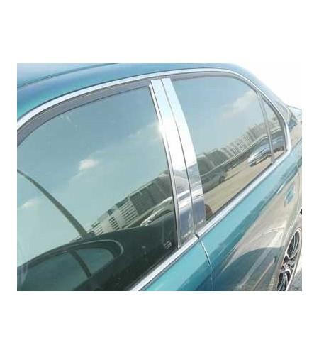 Protections montants de porte chrome Honda Civic