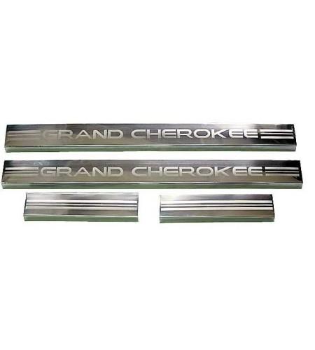 Seuils de porte en inox Jeep Cherokee