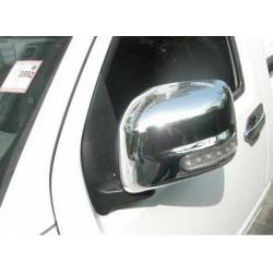 Coquille rétroviseurs chrome avec clignotant LED Nissan Navara D40