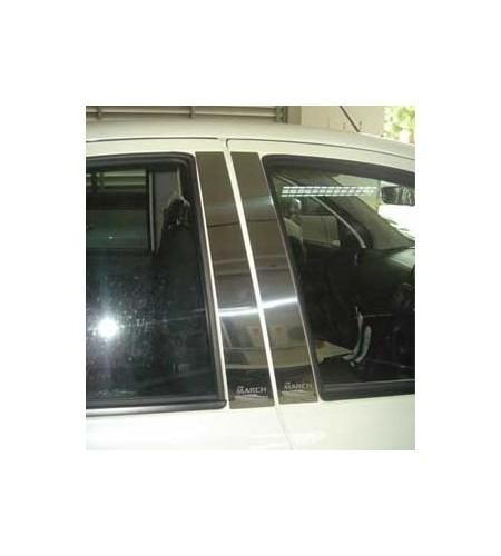 Protections montants de porte chrome Nissan Micra