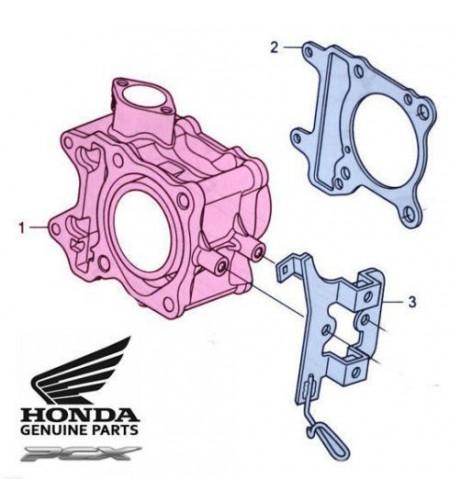 Cylindre moteur pour le scooter Honda PCX 125 Pièce moto d'origine Honda.